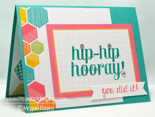 Paper Crafts Idea: Hip-Hip Hooray Card