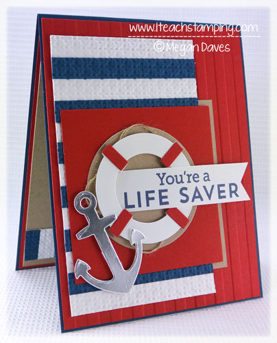 Masculine Card (Using Let's Get Nautical)