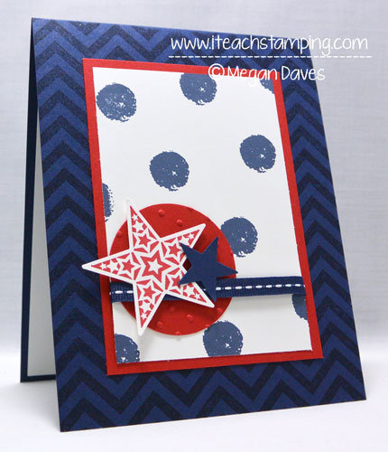 Red, White and Blue Greeting Card (Memorial Day)