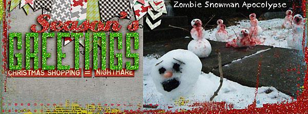 Zombie Snowman Apocalypse FB Header