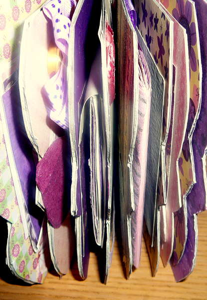 my thick scallop mini-album.