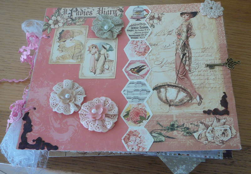 frontpage of my mini-scrapbook,a lady's diary