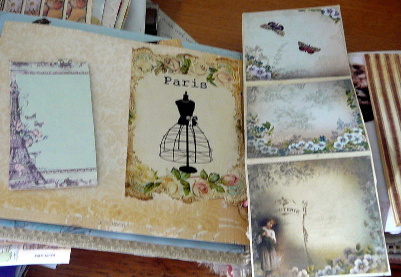 a page with a big photomat,and a trifold for lots of pictures,in my big mini-album