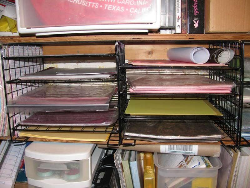 Home made paper shelves