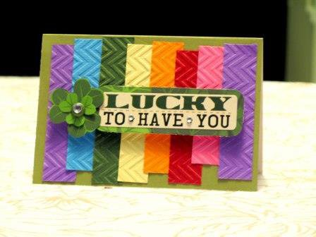 St. Patricks Day Rainbow Card