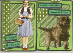 dorothy and toto ATCs