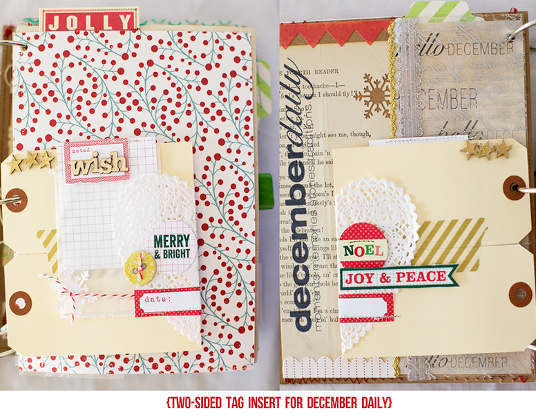 December Daily tag insert