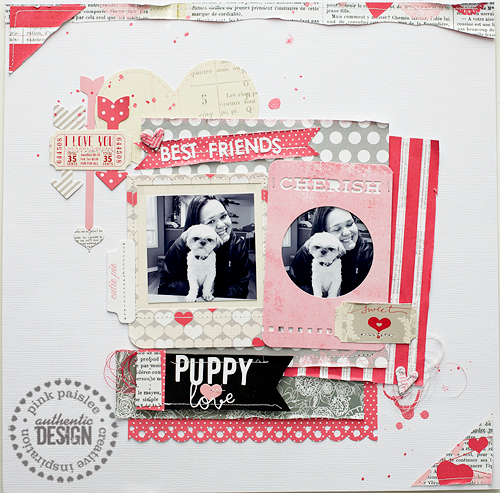 Puppy Love--Pink Paislee
