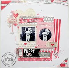 Puppy Love--Pink Paislee