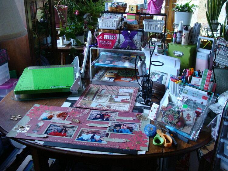 My Scrapbooking Room Jan. 8 2012