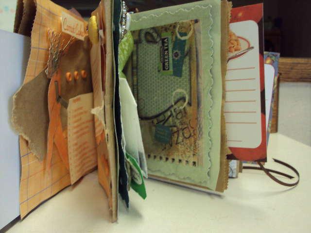 Paper Bag Recipe Book - standing open