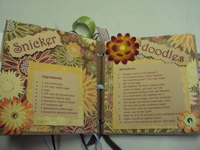 Paper Bag Recipe Book - Open Snickerdoodles full page