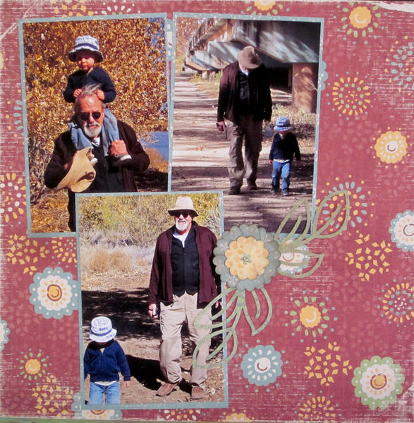Grandpa and Andy at the Bosque
