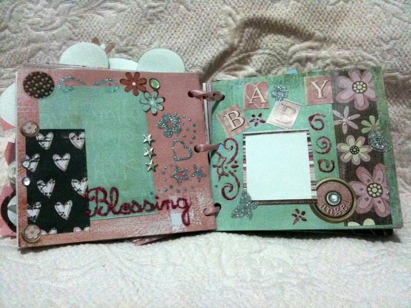 my first scrapbook paper bag mini