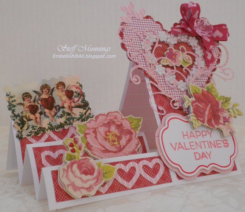 Side Step Valentine's Day card.