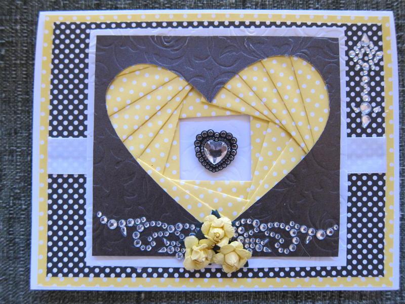 Iris Fold Anniversary Card