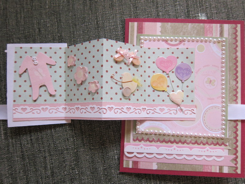 Baby Girl with Mini Card on front open