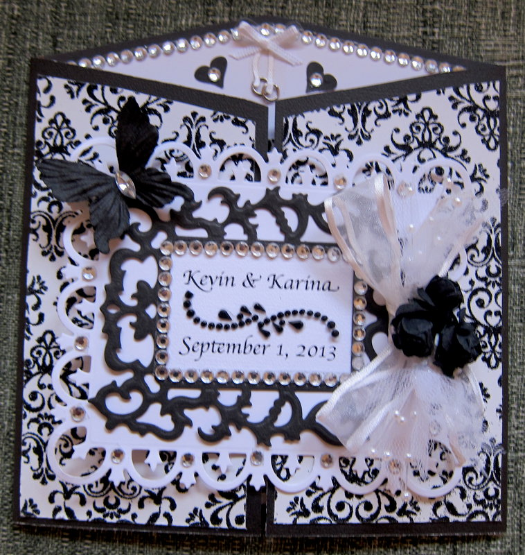 Damask Wedding Card