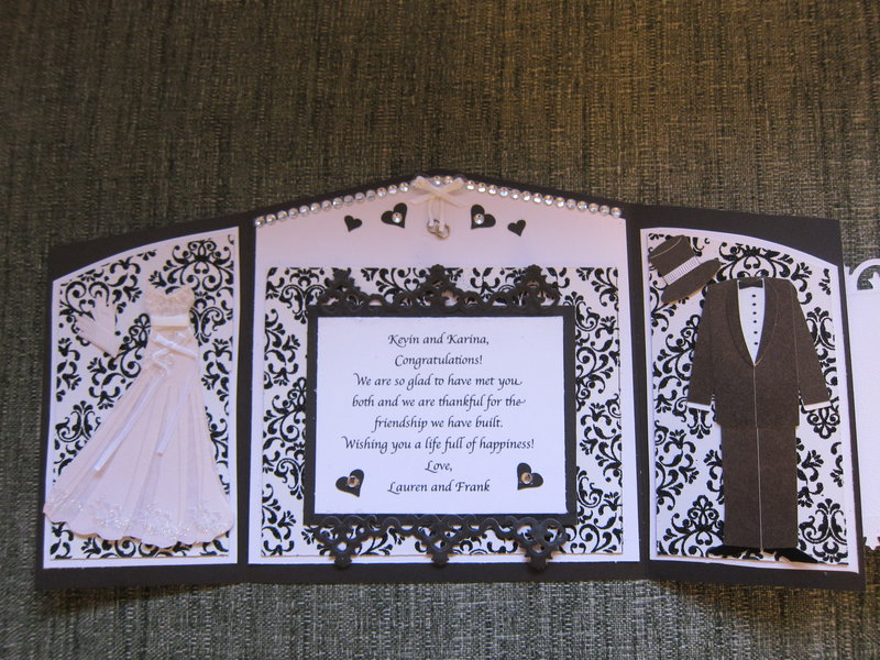 Damask Wedding Card - Inside