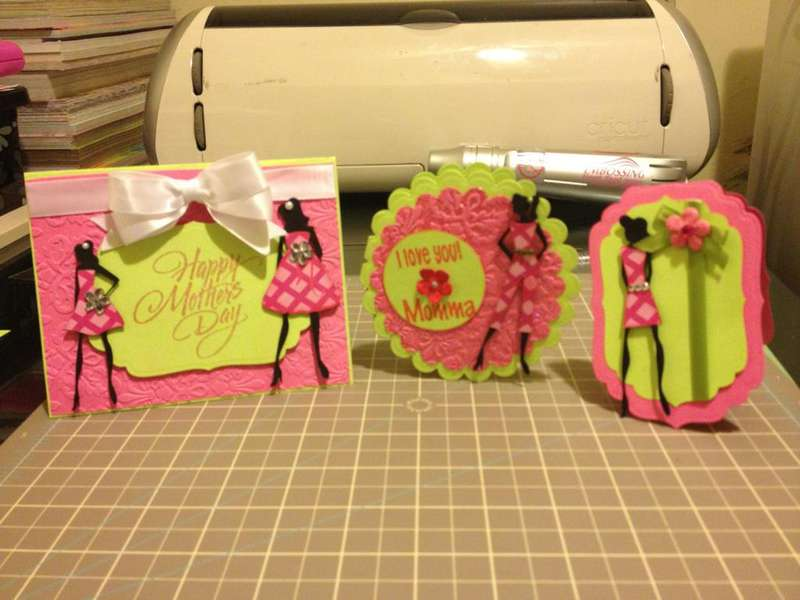 Mother's Day Cards and gift card holder