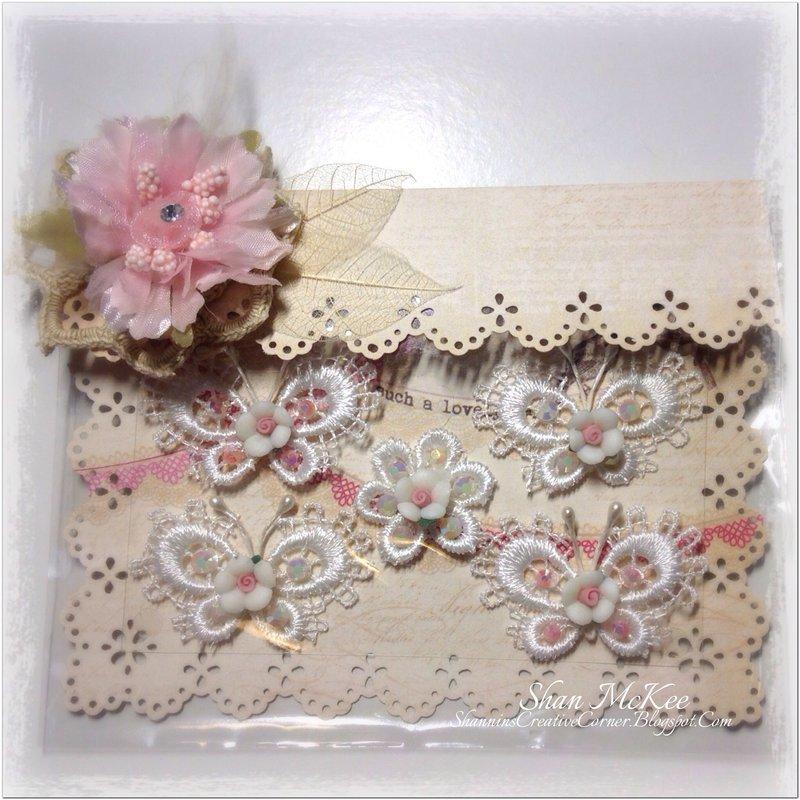 Handmade lace butterflies