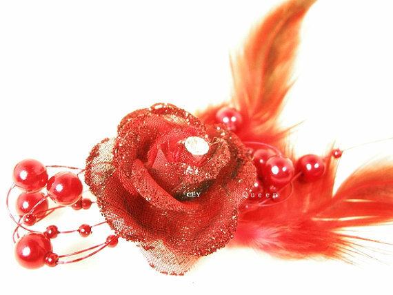 wedding fabric flower