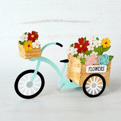 Tricycle Flower Cart Box Card