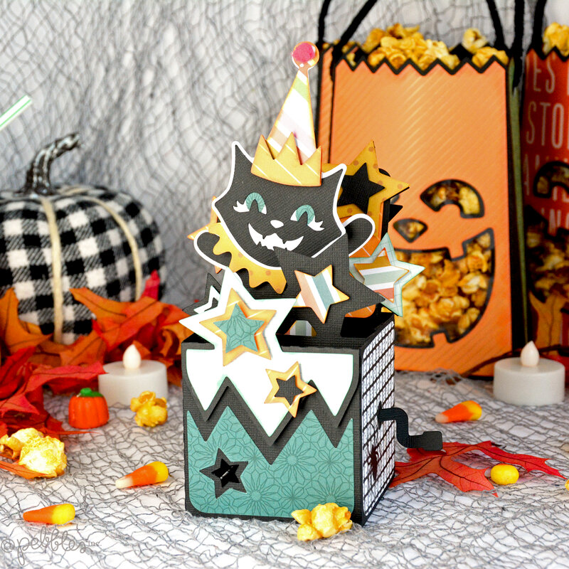 Cat in the Box Halloween Card