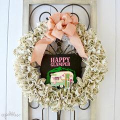 Happy Glamper Ruffled Burlap Wreath