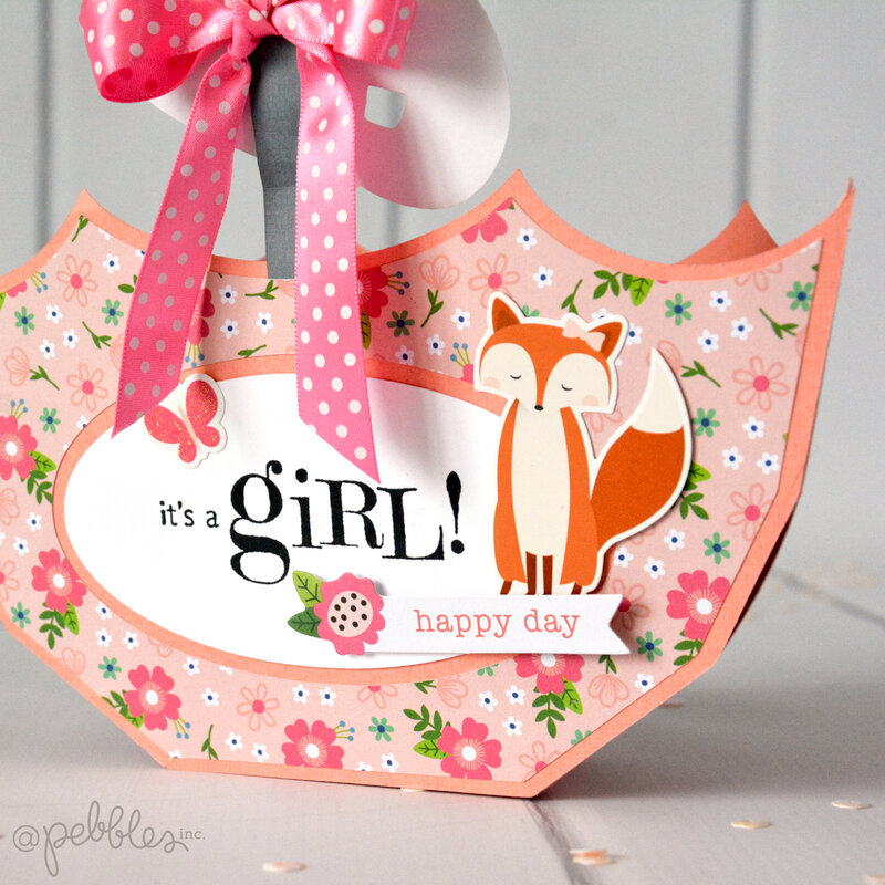 It's A Girl - Baby Shower Table Decor with Pebbles