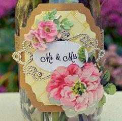 Mr & Mrs Mason Jar Vase