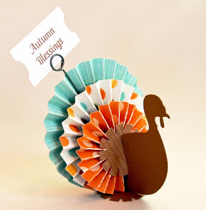 Autumn Blessings Turkey Table Decor