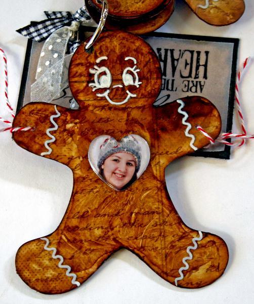 Gingerbread Man Keychain Mini Album (more)