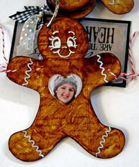 Gingerbread Man Keychain Mini Album (more)