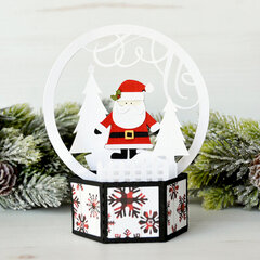 Santa Snow Globe Box Card - Lori Whitlock
