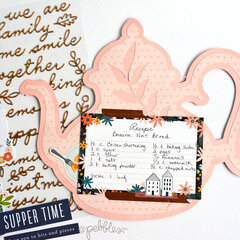 Teapot shaped mini recipe album