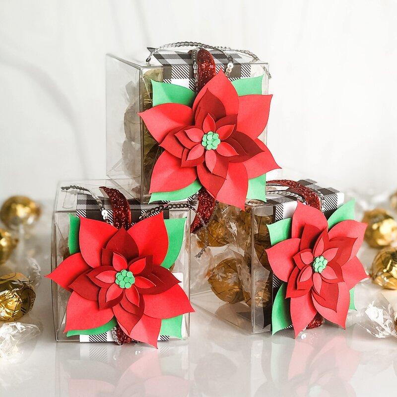 Poinsettia Truffle Treat Boxes