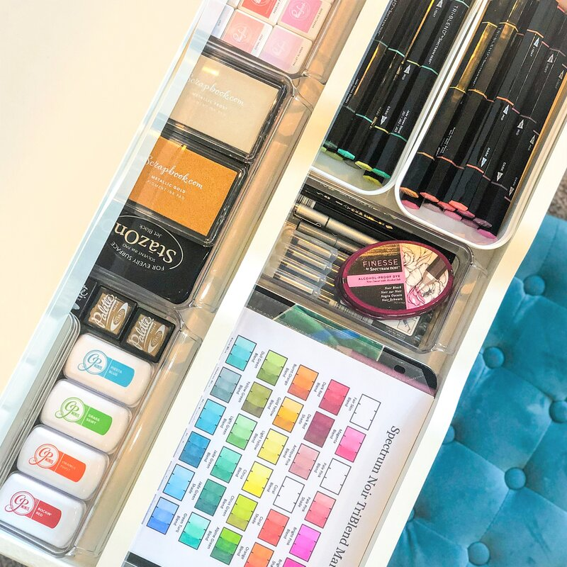 Drawers: Inks & Markers