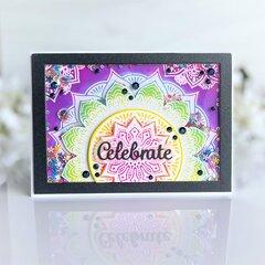 Mandala Kaleidoscope Shaker Card