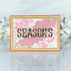 Season's Greetings Shaker Card