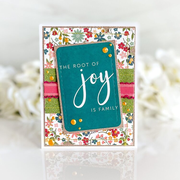 The Root of Joy is Family Card