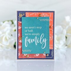 Pocket Cards to Greeting Cards: Family Edition Card 1