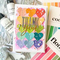 Thank You Rainbow Hearts Card