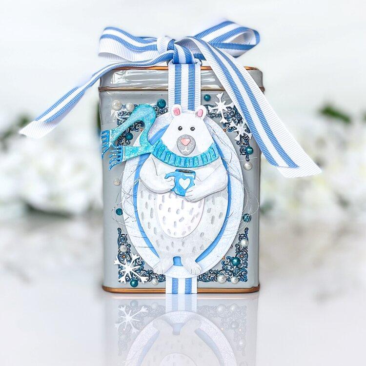 Cozy Winter Bear Tea Tin