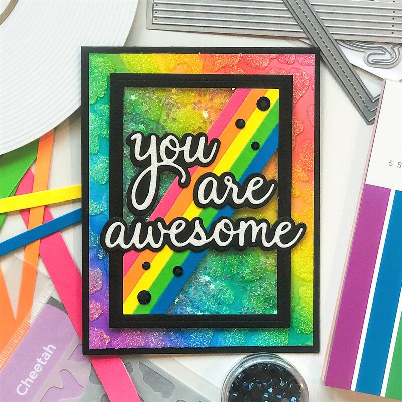 You Are Awesome Shaker Card