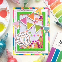 Blow Out the Candles Shaker Card