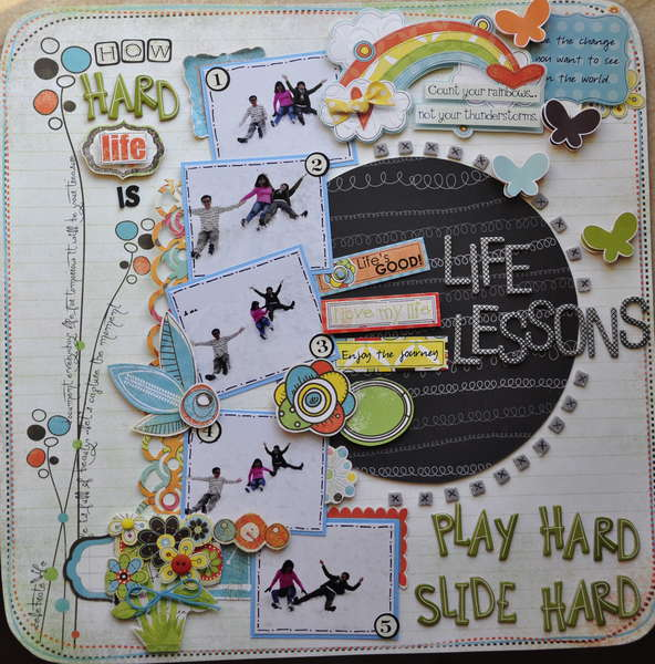 how hard life is .......play hard slide hard