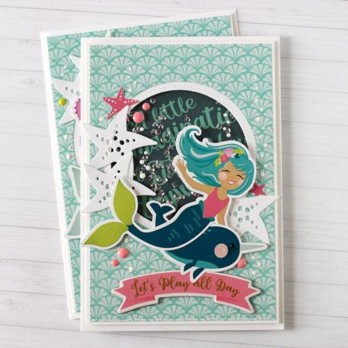 Mermaid Shaker Card by Anya