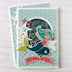 Mermaid Shaker Card by Anya