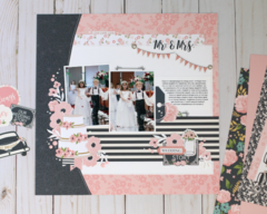 Mr & Mrs Scrapbook Layout